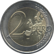 2 Euro (Speech of June 18th 1940) -  reverse