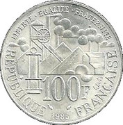 100 Francs (Germinal) -  reverse