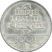 100 Francs (Statue of Liberty) -  reverse