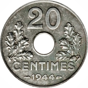 20 Centimes (Vichy French State) -  reverse