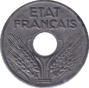 10 Centimes (Vichy French State; large issue) -  obverse