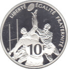 10 Francs (Rugby) – reverse
