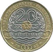20 Francs (Mediterranean Games) -  reverse