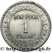 1 franc (essai en maillechort) -  obverse