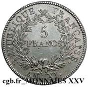5 Francs (pattern by Brenet au type adopté par le jury) -  reverse