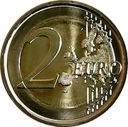 2 Euro (General Charles de Gaulle) -  reverse