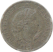 5 centimes (Essai en maillechort de Merley, type I) -  obverse