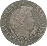 5 Centimes (Essai piéfort en maillechort de Merley, type II) -  obverse