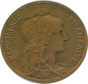 5 centimes Daniel-Dupuis (Piéfort en bronze sur flan mat) -  obverse