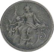 5 centimes Daniel-Dupuis (Piéfort en bronze argenté sur flan mat) -  obverse