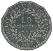 10 centimes (Essai en maillechort de Dupré) -  obverse