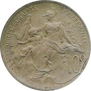 10 Centimes Daniel-Dupuis (Essai en bronze argenté non daté) -  obverse