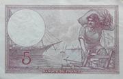 5 Francs Violet modifié – reverse