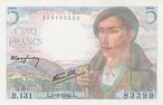 5 Francs (Berger) – obverse