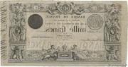 1000 Francs type 1842 Définitif – reverse