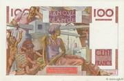 100 Francs (Jeune paysan, type 1945 avec signature Favre-Gilly) – reverse