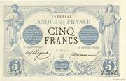 5 Francs - Blue, denomination black, type 1871 – obverse