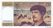 20 Francs (Debussy) – obverse