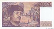 20 Francs (Debussy) – reverse