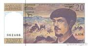 20 Francs Debussy (type 1980 modifié) – obverse