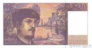 20 Francs Debussy (type 1980 modifié) -  reverse
