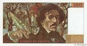 100 Francs (Delacroix) – reverse