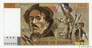 100 Francs - Delacroix (type 1978 modified) – obverse