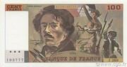 100 francs Delacroix (type 1978, articles 442-1 & 442-2) – obverse