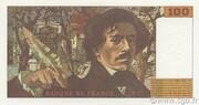 100 francs Delacroix (type 1978, articles 442-1 & 442-2) – reverse