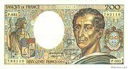 200 Francs - Montesquieu (type 1981 uniface) – obverse