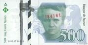 500 Francs - Pierre et Marie Curie (type 1993 fault) -  obverse