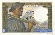 10 francs Mineur (type 1941) -  obverse