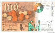 100 Francs Cézanne (type 1997) -  reverse