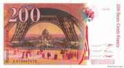 200 Francs (Eiffel, type 1995) – reverse