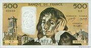 500 Francs (Pascal, type 1968) -  obverse