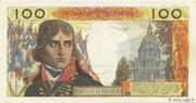 100 nouveaux Francs Bonaparte (type 1959) – reverse