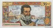 50 nouveaux francs Henri IV (type 1959) – obverse