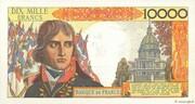 100 NF sur 10000 Francs Bonaparte (type 1955) – reverse