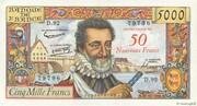 50 NF sur 5000 francs Henri IV (type 1957) -  obverse