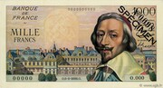 1000 Francs (Richelieu, type 1953) -  obverse