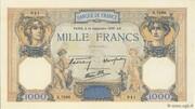 1000 francs Cérès et Mercure (type 1927 modifié) -  obverse