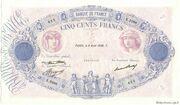 500 francs Bleu et rose (type 1888) – obverse