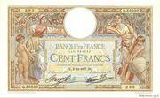 100 francs Luc Olivier Merson (type 1906 modifié) – obverse