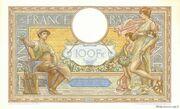 100 francs Luc Olivier Merson (type 1906 modifié) – reverse
