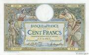 100 francs Luc Olivier Merson (type 1906 avec grands cartouches) – obverse