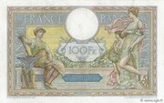 100 francs Luc Olivier Merson (type 1906 avec grands cartouches) – reverse