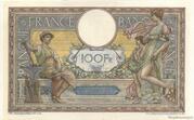 100 francs Luc Olivier Merson (type 1906 sans LOM) – reverse