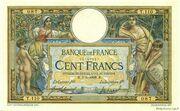 100 francs Luc Olivier Merson (type 1906 avec LOM) – obverse