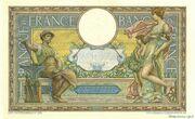 100 francs Luc Olivier Merson (type 1906 avec LOM) – reverse