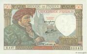 50 francs Jacques Coeur (type 1941) – obverse